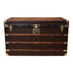 Vintage Louis Vuitton Steamer Trunk | From a unique collection of antique and modern trunks and luggage at http://www.1stdibs.com/furniture/more-furniture-collectibles/trunks-luggage/