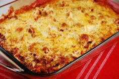 This casserole is chock full of chicken, cheese, green chilies, salsa and tortillas. Mmm! No wonder this is grandma's favorite! And this one is so quick .......