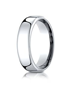 Benchmark 10K White Gold 6.5mm European Comfort-Fit Wedding Band Ring, Size 6. LIFETIME WARRANTY. Made in USA with expert craftsmanship to ensure comfort and ease of wear. This is not a hollow, but completely SOLID ring. This ring comes with a Luxurious Cherrywood Gift Box. FREE Engraving for most rings 3mm and larger (contact seller BEFORE ordering).