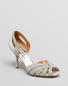 Badgley Mischka Peep Toe D'Orsay Evening Sandals - Tatiana High Heel on shopstyle.com