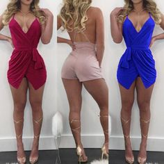 Alluring Crisscross Strappy Romper Dress