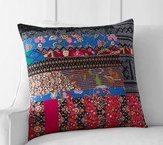 Pauline Boyd Patchwork Apple Blossom Pillow Cover #potterybarn