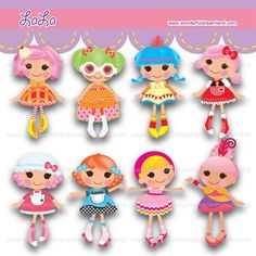 REGULAR PRICE US - I drew these images using of 'Illustrator' - The file contents pdf jpg and png files - Print out size pdf and jpg x inch each Lalaloopsy Party, Pretty Drawings, Cute Clipart, Baby Party, Scrapbook Cards, Paper Dolls, Party Themes, Crafts For Kids, Paper Crafts