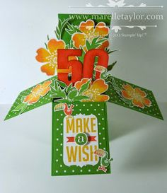 Marelle Taylor Stampin' Up! Demonstrator Sydney Australia: Card-in-a-Box goes Troppo! Fun Fold Cards, 3d Cards, Cool Cards, Folded Cards, Stampin Up Cards, Quick Cards, Card In A Box, Pop Up Box Cards, Card Boxes