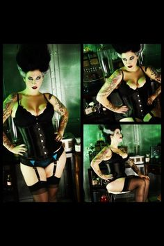 Bride of Frankenstein pinup photos by vixen pinup photography!
