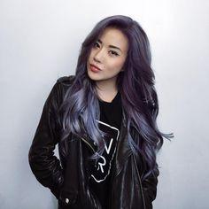 """by Eugenie Grey on Instagram: """"Change is in the hair (again). New purple locks by the bestest in LA, @dearmiju """""""
