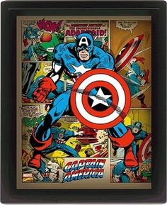 Marvel Retro 10 x 8-Inch ``Captain America`` Framed 3D Poster, Multi-Colour Europosters is one of the biggest European sellers of products such as posters, art prints, canvases, calendars and art photos. We offer a comprehensive service of framin (Barcode EAN = 5050574865050) http://www.comparestoreprices.co.uk/december-2016-4/marvel-retro-10-x-8-inch-captain-america-framed-3d-poster-multi-colour.asp