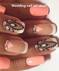 Fascinating nail art About this pin; 31 Related posts: 53 Outstanding Bridal Nails Art Designs Ideas – … 43 Nail Ideas to Inspire Your Next Mani 65 Awe-Inspiring Nail Art Designs for Short Nails French Manicure Nail Art Designs 17 Matte Nail Art, Acrylic Nail Art, Nail Art Diy, Latest Nail Art, Wedding Nails Design, Nagel Gel, Nail Decorations, Stylish Nails, Creative Nails