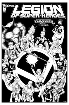 Legion of Superheroes Homage to Justice Society of America Issue 1 ( Infinite Timelines : The Summoning - Chapter 11 ) Comic Art