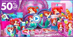 -- Good prices on the table ware, 50% off. Party favor stuff is reg price.  -----------------  Little Mermaid Party Supplies - Little Mermaid Birthday-Party City