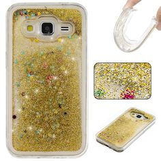 ef00f282871 Bear Butterfly Flower Quicksand Glitter Stars Liquid Clear Soft TPU Cover For  Samsung Galaxy Core Prime