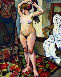 Suzanne Valadon, Nude Fixing her Hair, 1920