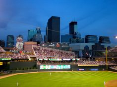 View of the downtown #Minneapolis from Target Field: home of the Minnesota Twins baseball team. http://www.myh2c.com/