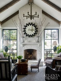 Buckhead Cottage living room. Architect William B. Litchfield and Jackye Lanham designed this stunning space, replete with southern charm