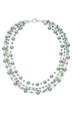 Jewelry Design - Multi-Strand Necklace with Glass Beads and Pearls - Fire Mountain Gems and Beads