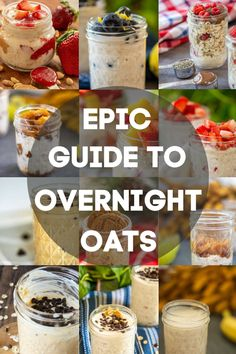 Everything you EVER wanted to know about overnight oats but were afraid to ask!  This is the ultimate guide to the easiest (and tastiest) meal prep breakfast on the planet! Make several days' worth of on-the-go breakfasts in just a few minutes and change the ingredients to make it something new each day! #OvernightOats #MealPrep #Breakfast #BreakfastPrep #OnTheGo via @savorandsavvy