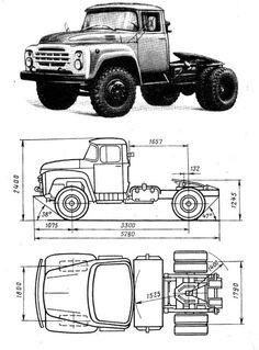 A ZiL-130 Old Trucks, Chevy Trucks, Blue Cartoon Character, Car Prints, Old Vintage Cars, Cartoon Wallpaper Hd, Wooden Truck, Doll House Plans, Parking Design