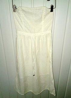 Kup mój przedmiot na #vintedpl http://www.vinted.pl/damska-odziez/krotkie-sukienki/16683353-azurowa-ecrue-sukienka-bez-ramiaczek