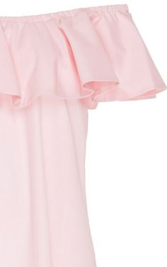 Pink Cotton Off The Shoulder Peasant Dress by MDS STRIPES Now Available on Moda Operandi