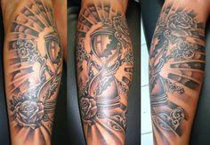 Paradise Ink Tattoo Bali: Hour glass