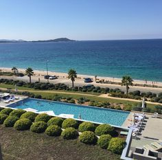 A room with a view: @annehelenechub soaks up the sun and takes in the view at Hotel Radisson Blu Resort & Spa: Ajaccio Bay.