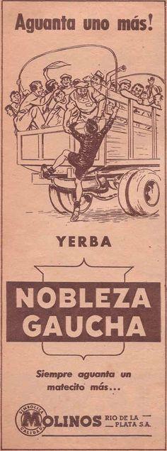 Yerba NOBLEZA GAUCHA, década del 50.