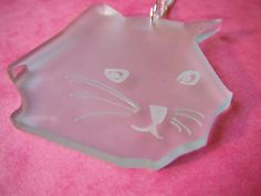 Buddy the Cat Frosted Mint Green Acrylic by CataCakeCreations, £11.00