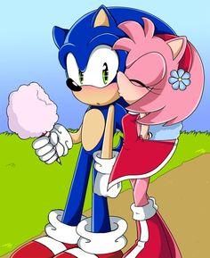 Sonamy Sonic 3, Sonic And Amy, Sonic Fan Art, Amy Rose, Cartoon Fan, Cartoon Pics, Sonamy Comic, Shadow And Amy, Sonic Adventure