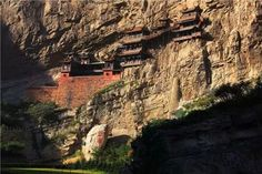 Hanging Monastery Temple at Mount Heng. '25 Beautiful Photos That Will Make You Want to Visit China'  http://www.visiontimes.com/2015/04/27/25-beautiful-photos-that-will-make-you-want-to-visit-china.html