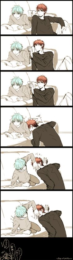 KagaKuro-- one of the cutest ships evar! XD KiseKuro is still cute, tho~ :P#wut the hell?