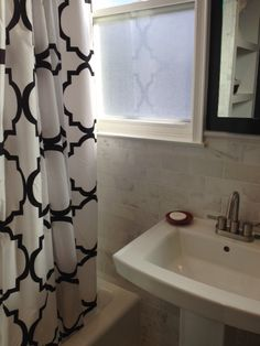10 Gorgeous Black And White Bathrooms | Pinterest | Black Tiles, Curtain  Designs And Graphic Wallpaper