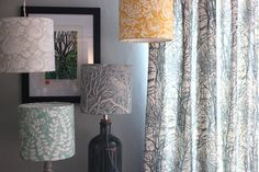 Under Hillway Coppice — Susie Hetherington Textiles Lampshades, Textiles, Lighting, Home Decor, Lamp Shades, Decoration Home, Room Decor, Lights, Fabrics