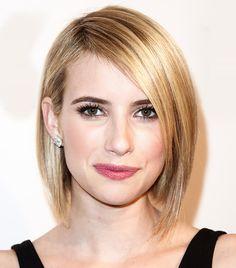 Emma Roberts's straight and sleek bob                                                                                                                                                                                 More