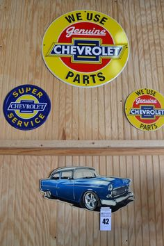 4 Signs - Metal - 3 Chevy, 1 Chevy Car - http://comasmontgomery.com/index.php?ap=1&pid=40645