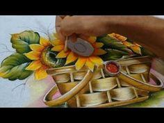 Roberto Ferreira - Como pintar Cesta ( REPRISE) Part 1. - YouTube