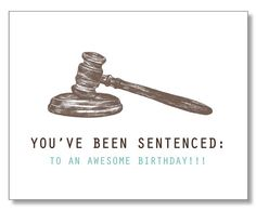 HILARIOUS LAWYER BIRTHDAY Card. Judge card. Law by DesignParlour