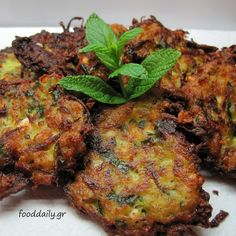 """** Kolokithokeftedes or """"Κολοκυθοκεφτέδες"""" (Zucchini fried balls) Greek Recipes, My Recipes, Cooking Recipes, Greek Dishes, Zucchini Fries, Veggie Dishes, Mediterranean Recipes, Group Meals, Recipe Collection"""