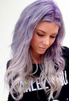 Purple ombre pastel dyed hair