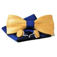 Men's cufflinks + wooden bow tie with pocket square. Lemon wood bowtie and cufflinks. Best idea for gift. by woodton on Etsy Make A Bow Tie, How To Make Bows, Handmade Items, Handmade Products, Etsy Handmade, Wooden Bow Tie, Bow Tie Wedding, Men's Cufflinks, Gifts For Him