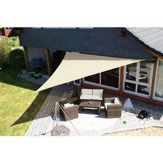 Eduplay Sonnenschutz Sonnensegel, 5x5x5m, Dreieck, wasserabweisend, cremewei� (1 St�ck)