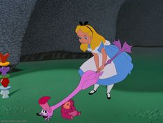 Playing croquet, *ALICE in WONDERLAND,1951 DisneyScreencaps.com