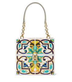 Dolce Gabbana Print Wood Handbag - Shop more summer date night looks: http://www.harpersbazaar.com/fashion/fashion-articles/summer-2014-date-outfits