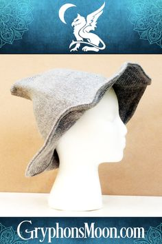 Grey Witch Hat - What's on your wish list for Halloween? Maybe a new witch's hat? These knitted witch hats are the perfect combination of cute, comfy, and cool. They're the perfect accessory whether riding your broomstick, handing out candy, or dancing in the moonlight. Soft and form-fitting, they still hold their shape well, from the wide brim to the tip-top peak. Available in 4 colors from our website. #Witch #Hat #WitchHat #WitchHats #WitchesHat #WitchyThings #Halloween #Samhain #GreyHat Samhain Halloween, Dancing In The Moonlight, Just Shop, Autumn Aesthetic, Witch Hats, Gifts For Her, Cool Stuff, Grey, Comfy