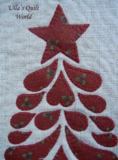 Christmas tree Quilt - Wall hanging by Ulla's Quilt World
