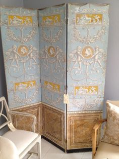decorative painted screen