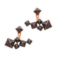 Earring Jackets Silver Double Sided Earrings Front to by ETHEIA