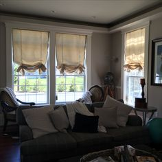 Roman Shades in my living room