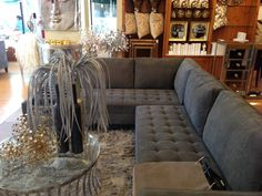 Gray sectional at Z Galleria. Bonus Room