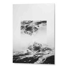"""Tableau """"Montagne Noir et Blanc"""" -Collection Cosy-  #tableau #cosy"""