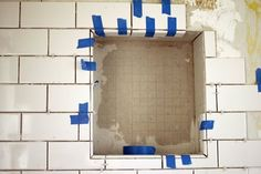Diy Renovation Project: How To Build A Recessed Shower Shelf — Apartment Therapy…